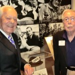 Capt. Bob Bruton poses with Bob Schieffer, CBS journalist at a function held at Texas Christian University in Fort Worth on April 8, 2015. (photo taken by a family member)