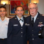 Capt. Bob Bruton with Cadet 2nd Lt. Madison Applewhite and Cadet Staff Sgt. Andrew Applewhite at a Civil Air Patrol function in Dallas on August 31, 2015. Photo taken by 1st Lt. Blanca Applewhite)