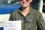 Cadet Herrington Earns her Private Pilot License
